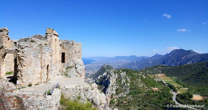 Restene av St. hilarion Castle fra middelaldere
